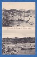 CPA - THE CARENAGE  St George's , Grenada - Port / Harbour - 2 Vues - 1850 / 1900 - Bateau Militaire Navire De Guerre - Grenada
