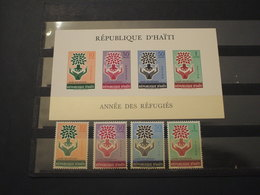 HAITI - 1960 RIFUGIATI/ALBERO 4 VALORI + BF - NUOVI(++) - Haiti