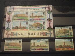 GRENADA - 1970 ARCHITETTURA 4 VALORI + BF - NUOVI(++) - Grenada (1974-...)