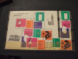 GRENADA - 1969 GANDHI 4 VALORI + BF - NUOVI(++) - Grenada (...-1974)