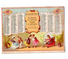 Rare Chromo Calendrier Imp. Alfred Clarey, 1880, Au Gagne Petit - Chromo