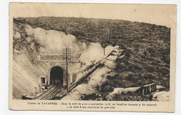 (RECTO / VERSO) TAVANNES EN 1937 - LE TUNNEL OU FUT ENSEVELI UN BATAILLON FRANCAIS EN 1916 - BEAU CACHET - CPA VOYAGEE - France