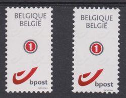 """BE 2011  -  N° 4182/4183 XX - Nouveau Type Du Timbre """"Mon Timbre"""" (nouveau Format) - Belgium"""
