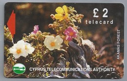 CY.- Telefoonkaart.- Cyprus Akamas Forest Plantes Fleurs.  £ 2 - Phonecard - Telecard - 16CYPA - Bloemen