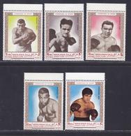 MANAMA N°   20, AERIENS N° 26 ** MNH Neufs Sans Charnière, 5 Valeurs (D6177) Champions De Boxe, Cerdan... - Manama