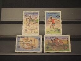 MALDIVES - 1989 VINCITORI OLIMPIADI 4 VALORI - NUOVI(++) - Maldive (1965-...)
