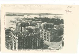 CPA ,Précurseur Australie , N° 12416, Sydney - Circular Quay, North Shore , Ed. Siengel  & Co. ,Dos Simple - Sydney