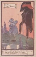Bn - Cpa Illustrée Salzedo - Le Loup Et L'Agneau - Märchen, Sagen & Legenden