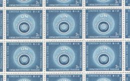 United Nations Full Sheet Of MNH Stamps 1957 Emergency Force 3c Blue - New York – UN Headquarters