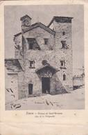 CARTOLINA - POSTCARD - SIENA  - GHIESA DI SANT' ANSANO - DIS DI A. VILIGIARDI - CON FRANCOBOLLO CENT. 30 - Siena