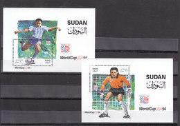 Stamps SUDAN 1995 SC-479 480 Football World Cup SOCCER USA 1994 MNH */* - Sudan (1954-...)