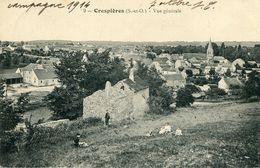 Crespieres Vue Générale Circulee En 1914 - Altri Comuni