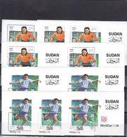 Stamps SUDAN 1995 SC-479 480 Football World Cup SOCCER USA 1994 LOT X5 SETS MNH - Sudan (1954-...)
