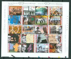 Belg. 2000 OBP/COB  Bl 87** (2943/62**), Yv 2940/59** - Belgien