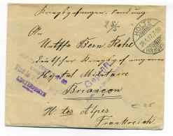 WW1 /  Hopital Complémentaire  N°50 EMBRUN /  Sur Lettre D'Allemagne  ( HOLTE) / Visé Par L' Interprete Mai 1917 - 1. Weltkrieg 1914-1918