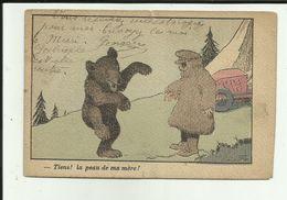 """Carte Illustrateur Benjamin Rabier - """" Tiens , La Peau De Ma Mère """" - Rabier, B."""
