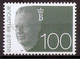 BELGIE * Nr 2481 * Postfris Xx * WIT PAPIER - GROENE GOM - 1981-1990 Velghe