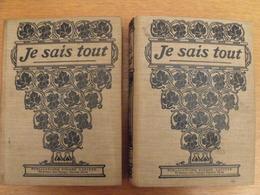 Je Sais Tout. Année Complète 1909 En 2 Tomes. Pierre Lafitte. Reliure éditeur - Books, Magazines, Comics