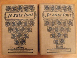 Je Sais Tout. Année Complète 1908 En 2 Tomes. Pierre Lafitte. Reliure éditeur - Livres, BD, Revues