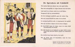 Vloeipapier Buvard Spreuken  Van Calabrië Calabria Calabre 84 Proverbes De Tous Les Peuples Et De Tous Les Temps - Altri