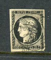 Rare N° 3 Cachet à Date De Lyon ( Janvier 1849 ) - 1849-1850 Cérès