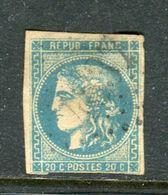 Rare N° 46B Cachet GC 4837 ( Fuveau - Indice 19 ) - 1870 Emissione Di Bordeaux