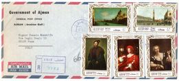U.A.E.-AJMAN - REGISTERED AIR MAIL COVER 1969 TO ITALY / THEMATIC STAMPS-PAINTINGS - Ajman