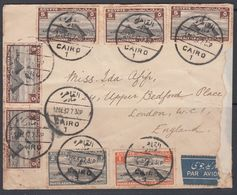 Egypt 1937 Airmail Cover To UK - Egypt