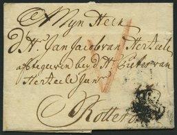 HAMBURG VORPHILA 1734, Brief Von Hamburg Nach Rotterdam, Feinst - Thurn Und Taxis