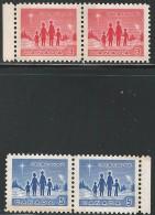 CANADA 1964 TAGGED W2B SCOTT/UNITRADE 434-435pi Pairs VAL US $ 7.50 - 1952-.... Reign Of Elizabeth II
