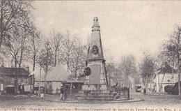 72. LE MANS. CPA . PLACE DE LA LUNE DE PONTLIEUE. MONUMENT COMMEMORATIF - Le Mans