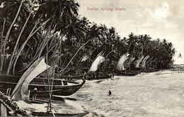 NATIVE FISHING BOATS    SRI LANKA. CEYLON CEYLAN - Sri Lanka (Ceilán)