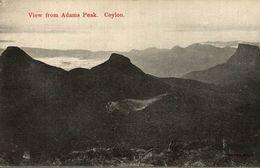 VIEW FROM ADAMS PEAK     SRI LANKA. CEYLON CEYLAN - Sri Lanka (Ceilán)
