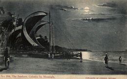 THE SEASHORE COLOMBO BY MOONLIGHT   SRI LANKA. CEYLON CEYLAN - Sri Lanka (Ceilán)
