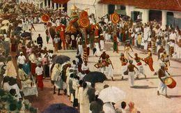 PLATES ART  THE KANDY PERAHERA   SRI LANKA. CEYLON CEYLAN - Sri Lanka (Ceilán)