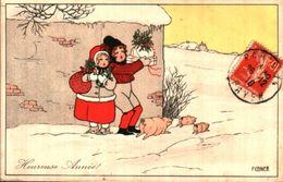 Illustrateur Pauli EBNER - Heureuse Année Cochons (MM Vienne M Munk 551) - Ebner, Pauli