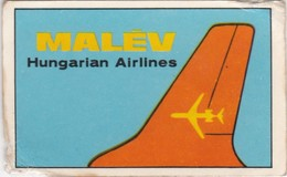 CHROMOS CHROMO - MALÉV - HUNGARIAN AIRLINES  AIRWAYS - 5 Cm X 8 Cm - Avions