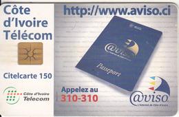 IVORY COAST - Aviso(150 Units), Chip GEM1a, Used - Ivory Coast