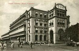 GRAND ORIENTAL HOTEL COLOMBO  SRI LANKA. CEYLON CEYLAN - Sri Lanka (Ceilán)