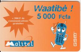 MALI - Malitel Prepaid Card 5000 Fcfa, Exp.date 23/07/05, Used - Mali