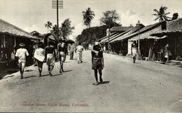 Ceylon - Colombo, Street Scene Galle Road SRI LANKA. CEYLON CEYLAN - Sri Lanka (Ceilán)