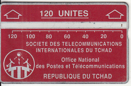 CHAD(L&G) - Telecom Logo Red 120 Units, CN : 611C, Tirage 15000, Used - Chad