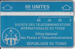 CHAD - Telecom Logo Blue 60 Units, CN : 105B, Tirage 8000, Used - Chad