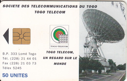 TOGO - Earth Station 2(new Design-50 Units), Chip GEM1, Used - Togo