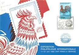 "CPSM CARTE MAXIMUM ""Finlande, Exposition Philatélique"" / COQ - Cartes Postales"