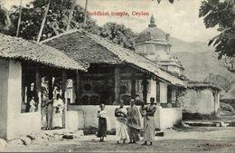 BUDDHIST TEMPLE  CEYLON SRI LANKA . CEYLON CEYLAN - Sri Lanka (Ceilán)