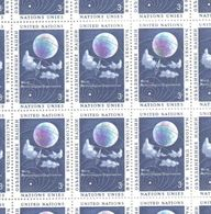 United Nations Full Sheet MNH Stamps 1957 World Meteorological Organization 3c - New York – UN Headquarters