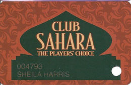 Sahara Casino - Las Vegas, NV - 1st Issue Slot Card - 3 Lines Of Text In 1st Paragraph - Casino Cards