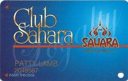 Sahara Casino - Las Vegas, NV - Slot Card - Last Line Reverse Starts 'cancel' - Casino Cards