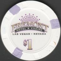 $1 Casino Chip. Fremont, Las Vegas, NV. B19. - Casino